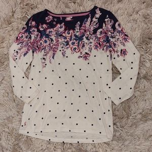 Joules harbour print  sweater floral polka dot